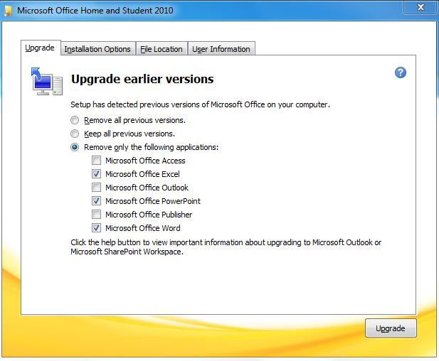 microsoft office home and student 2010 will not install